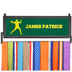 AthletesWALL Medal Display - Personalized Text With Quarterback