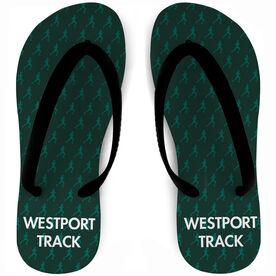 Track and Field Flip Flops Male Runner Pattern