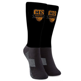 Basketball Printed Mid-Calf Socks - Your Logo
