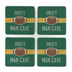 Football Stone Coasters Set of Four - Man Cave