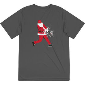 Baseball Short Sleeve Performance Tee - Home Run Santa