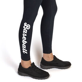 Baseball Leggings - Baseball Script