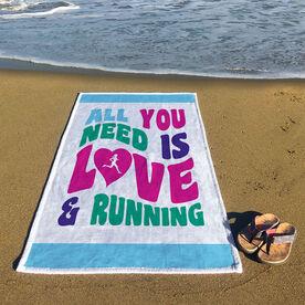Running Premium Beach Towel - All You Need Is Love