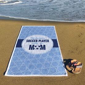 Soccer Premium Beach Towel - My Favorite Player