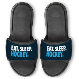Hockey Repwell® Slide Sandals - Eat. Sleep. Hockey.