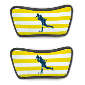 Field Hockey Repwell™ Sandal Straps - Stripes with Silhouette