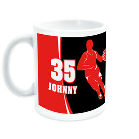 Basketball Coffee Mug Personalized Guy with Big Number