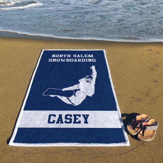 Snowboarding Premium Beach Towel - Personalized Team