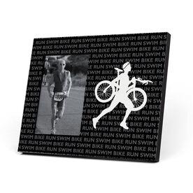 Triathlon Photo Frame - Swim Bike Run Repeat Guys