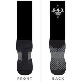 Baseball Printed Mid-Calf Socks - 6-4-3 Double Play