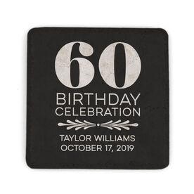 Personalized Stone Coaster - Birthday Celebration