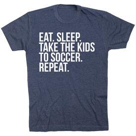 Soccer Short Sleeve T-Shirt - Eat Sleep Take The Kids To Soccer
