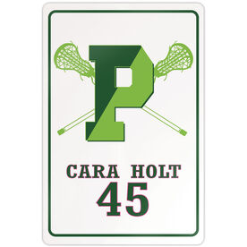 """Room Sign (18""""x12"""") - Personalized Pentucket Youth Girls Lacrosse Logo"""