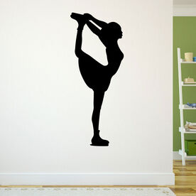 Figure Skater Removable ChalkTalkGraphix Wall Decal