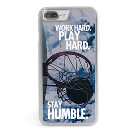 Basketball iPhone® Case - Work Hard Play Hard Stay Humble