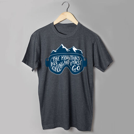 Skiing & Snowboarding Short Sleeve T-Shirt - The Mountains Are Calling