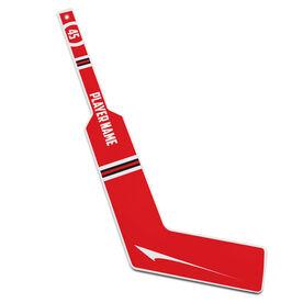 Personalized Knee Hockey Goalie Stick Circle Number