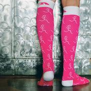 Run Girl Run Compression Knee Socks