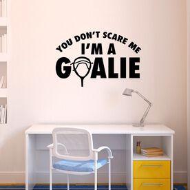 Lacrosse Removable ChalkTalkGraphix Wall Decal - I'm A Goalie