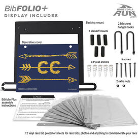 BibFOLIO+™ Race Bib and Medal Display - Arrows