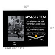 Softball Photo Frame - Seniors 2020 Our Future Is Bright
