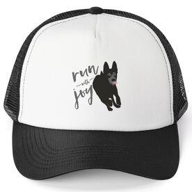 Running Trucker Hat Run With Joy