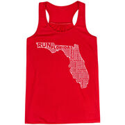 Flowy Racerback Tank Top - Florida