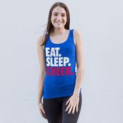 Cheerleading Women's Athletic Tank Top Eat. Sleep. Cheer.