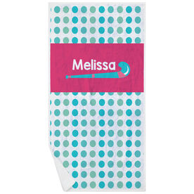 Field Hockey Premium Beach Towel - Personalized Sticks with Dots