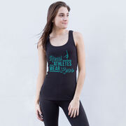 Gymnastics Women's Athletic Tank Top - Real Athletes Wear Leos