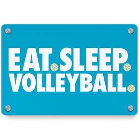 Volleyball Metal Wall Art Panel - Eat Sleep Volleyball