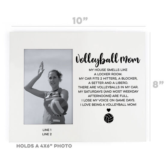 Volleyball Photo Frame - Volleyball Mom Poem