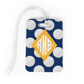 Golf Bag/Luggage Tag - Personalized Golf Pattern Monogram