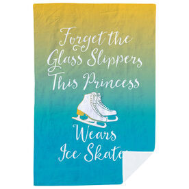 Figure Skating Premium Blanket - Forget The Glass Slippers This Princess Wears Ice Skates