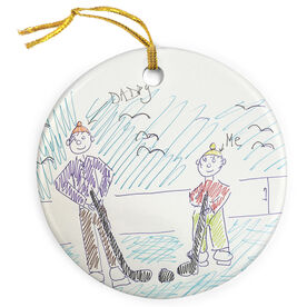Hockey Porcelain Ornament Your Drawing