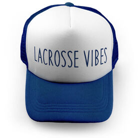Girls Lacrosse Trucker Hat - Lacrosse Vibes