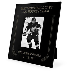 Hockey Engraved Picture Frame Side Sticks