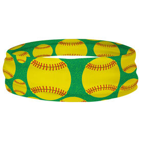 Softball Multifunctional Headwear - Tossed Ball Pattern RokBAND