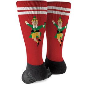 Running Printed Mid-Calf Socks - Elf Runner