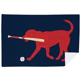 Baseball Premium Blanket - Buddy the Baseball Dog