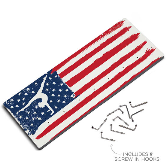 Gymnastics Hooked on Medals Hanger - American Flag