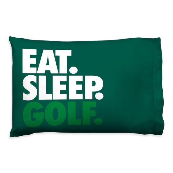 Golf Pillowcase - Eat Sleep Golf