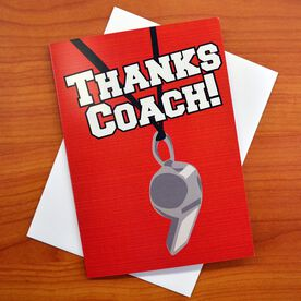 Thanks Coach - MySPORT Card (Coach Whistle Red)