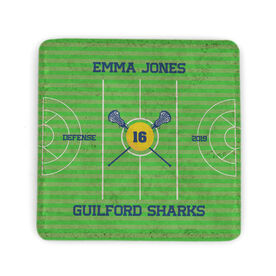 Girls Lacrosse Stone Coaster - Personalized Team