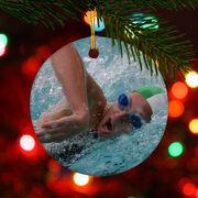 Swimming Porcelain Ornament Custom Swim Photo