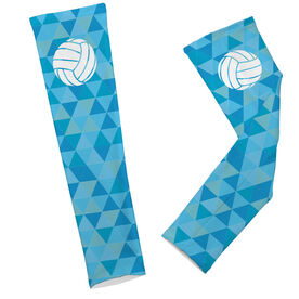 Volleyball Printed Arm Sleeves Triangles with Volleyball