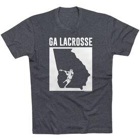 Guys Lacrosse Short Sleeve T-Shirt - Georgia Lacrosse