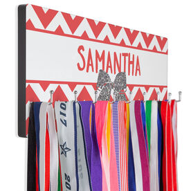 Cheer Hook Board Your Name with Bow Chevron