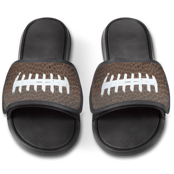 Football Repwell™ Slide Sandals - Football Texture