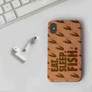 Fly Fishing Engraved Wood IPhone® Case - Eat. Sleep. Fish.